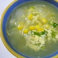 玉ねぎとたまごのコンソメスープ