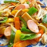 失敗しない野菜炒め❤魚肉ソ&2種のキノコで♪