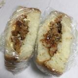 ラタトゥイユと鶏唐揚げのサンドイッチ
