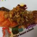 焼き鮭のねぎポン酢かけ