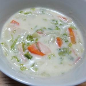 白菜のクリームスープ