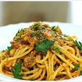 セロリとポモドーロの冷製スパゲッティーニ