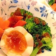 茹で野菜のオニオンソースかけ