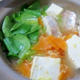 鯛と緑黄色野菜の簡単鍋