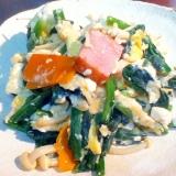 野菜たっぷり☆豆腐とほうれん草のチャンプルー