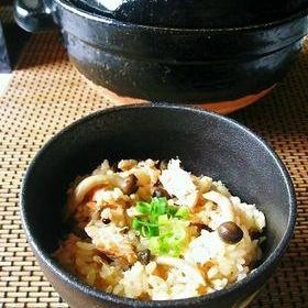 鮭ときのこの炊き込みご飯。