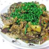 食べ過ぎ要注意!豚肉と茄子の黒胡麻味噌炒め