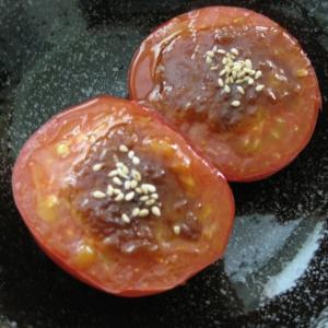 オーブントースターで簡単☆トマト田楽♪