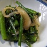 つるむらさきの大葉味噌炒め