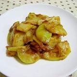 ジャンボニンニクの味噌マヨ炒め