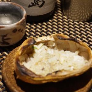 日本酒すすむ、蟹味噌焼き