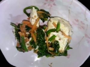 豆腐と野菜の和風炒め