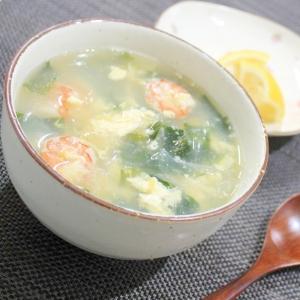海老と卵の中華スープ