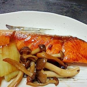 鮭とねぎの照り焼き
