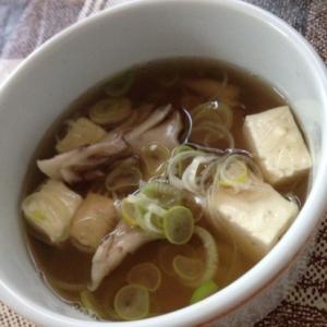 豆腐と舞茸の和風スープ