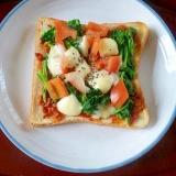 野菜がたくさんモッツァレラトースト