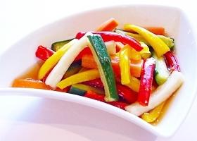 カラフル野菜のハニー&黒酢漬け