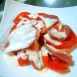 トマトと合鴨 スモークサラダ♪イタリアンドレマヨ