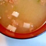 豆腐とあおさ・納豆の味噌汁
