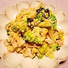 ブロッコリーと味玉☆マヨ海苔和え