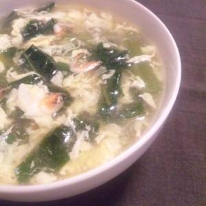 体の中から紫外線対策★ツルムラサキの卵スープ