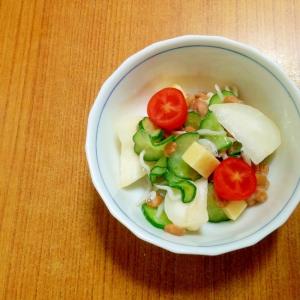 しらすチーズの納豆サラダ