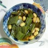 大豆と蕗の煮物~♥