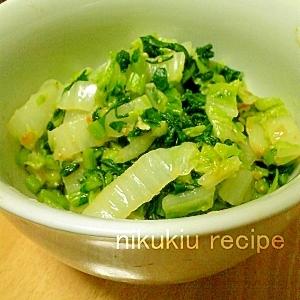 簡単おいしい!白菜と大根の葉のにんにく味噌和え