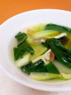 簡単ヘルシー!チンゲン菜とエリンギの中華スープ♪
