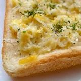しらすとチーズのトースト