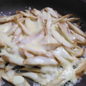 フライパンで☆ごぼうのチーズ焼き