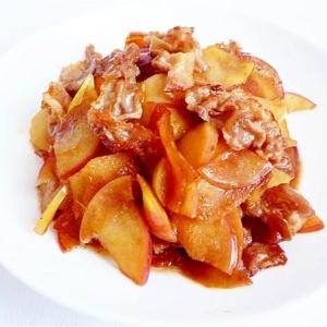 りんごと豚肉の生姜焼き