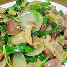 塩麹で簡単☆砂肝の旨辛中華炒め
