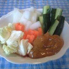 子供と作ろっ!野菜スティック(みそマヨ)