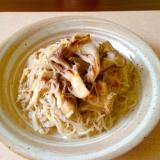 コンニャク麺で★舞茸とツナのミルクパスタ★