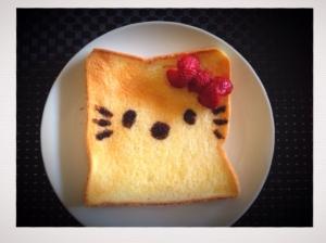 【簡単】キャラクター(キティ)のシュガートースト