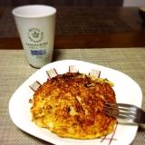 材料4つ☆オートミール&ピーナッツバターパンケーキ