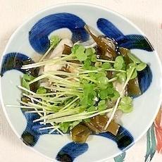 牡蠣、茎わかめ、貝割れ