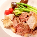 【超簡単】ボリューム野菜とラム肉のオイル煮