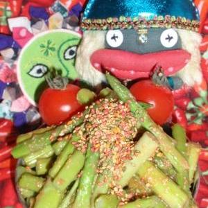 アスパラの胡麻味噌サラダ