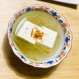 とろーりさっぱり!湯豆腐の梅酢あん