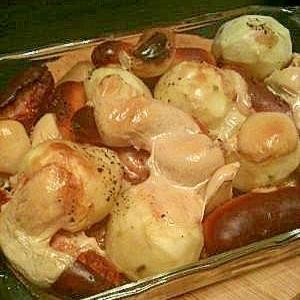 ☆新じゃが芋とウインナーのオーブン焼き☆