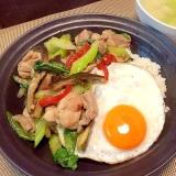Thai☆ガパオ風鶏肉ゴロゴロ炒め