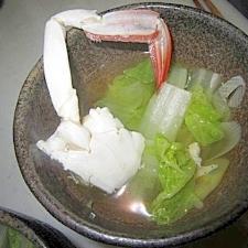 白菜葱蟹鱈スープ