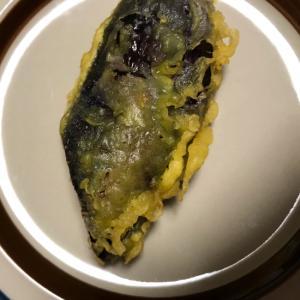 食べ応え満点!茄子の天ぷら1/4本揚げ