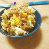 【ご飯もの】納豆卵のやみつきネギ醤油たれ ごはん