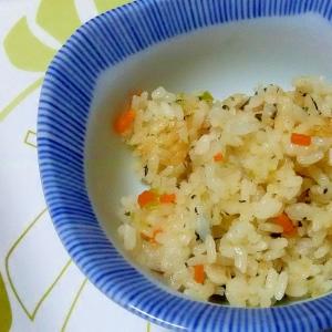 捨てない煮汁の炊き込みご飯++