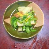 竹輪とセリの煮びたし。