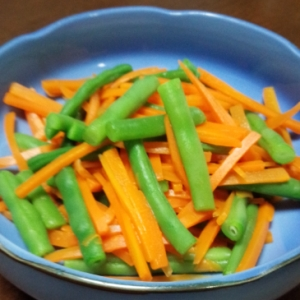 いんげんと人参の鮮やか彩り茹で野菜!
