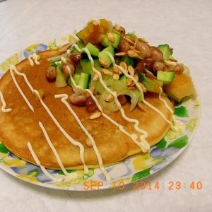 マッシュポテトのパンケーキ